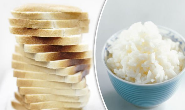 White rice and White Bread