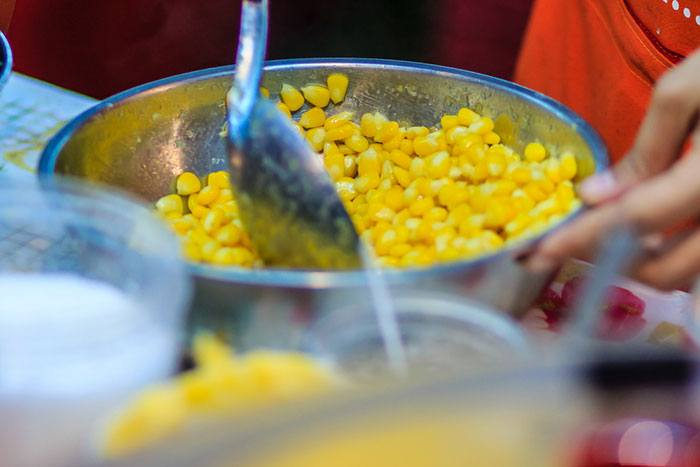 Method #1: Stovetop-cooked canned corn