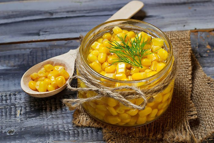 Method #3: Oven-cooked canned corn