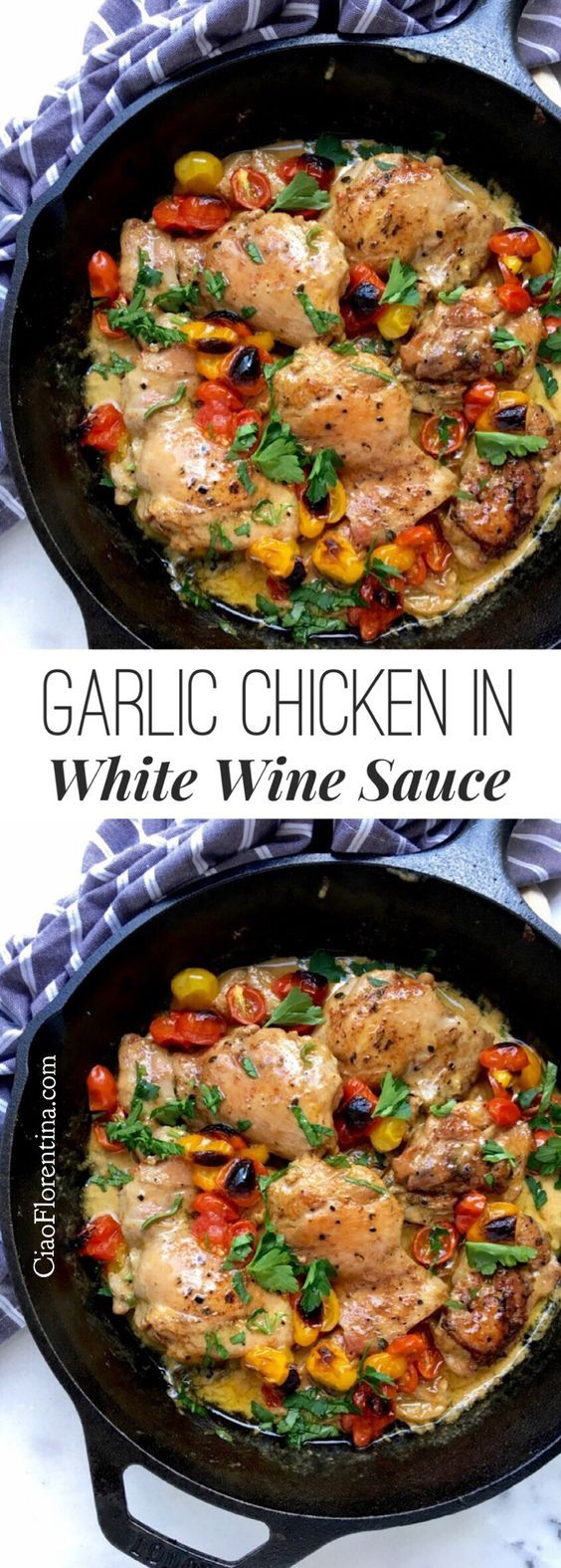 Garlic Chicken in White Wine Sauce