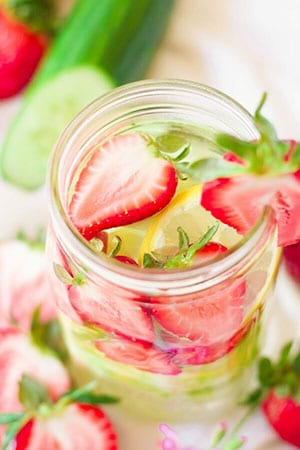 Lime And Strawberries